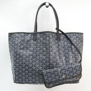 Goyard Saint Louis Saint Louis PM Women's Leather,Canvas Tote Bag Gray