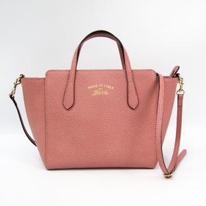 243d05ab6ac Gucci Gucci Swing 368827 Leather Handbag Dusty Pink