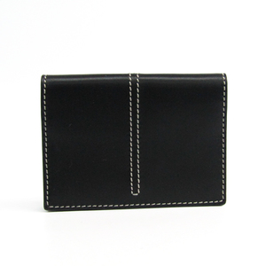 Tod's Leather Business Card Case Black