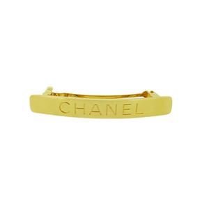 Auth Chanel gold Barrette