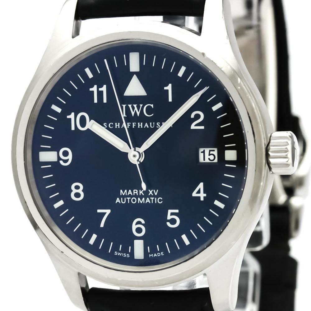 【IWC】パイロットウォッチ MARK XV マーク15 ステンレススチール レザー 自動巻き メンズ 時計 IW325301