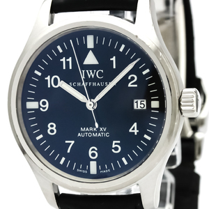 IWC Pilot Mark XV Steel Leather Automatic Mens Watch IW325301