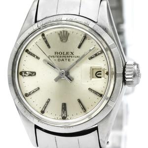 【ROLEX】ロレックス オイスター パーペチュアル デイト 6519 ステンレススチール 自動巻き レディース 時計