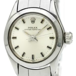 【ROLEX】ロレックス オイスター パーペチュアル 6618 ステンレススチール 自動巻き レディース 時計