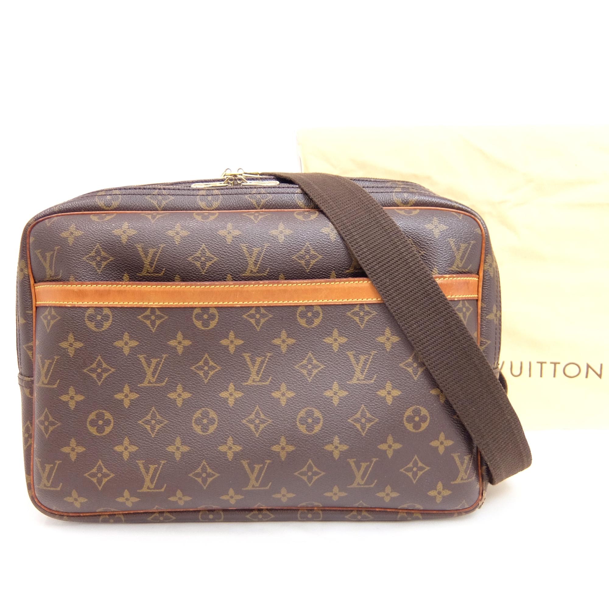 efc84999e93c Auth Louis Vuitton Monogram Reporter GM Unisex Shoulder Bag Monogram ...