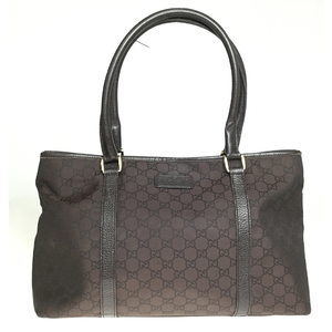 Gucci GG Nylon 257302 Tote Bag Brown
