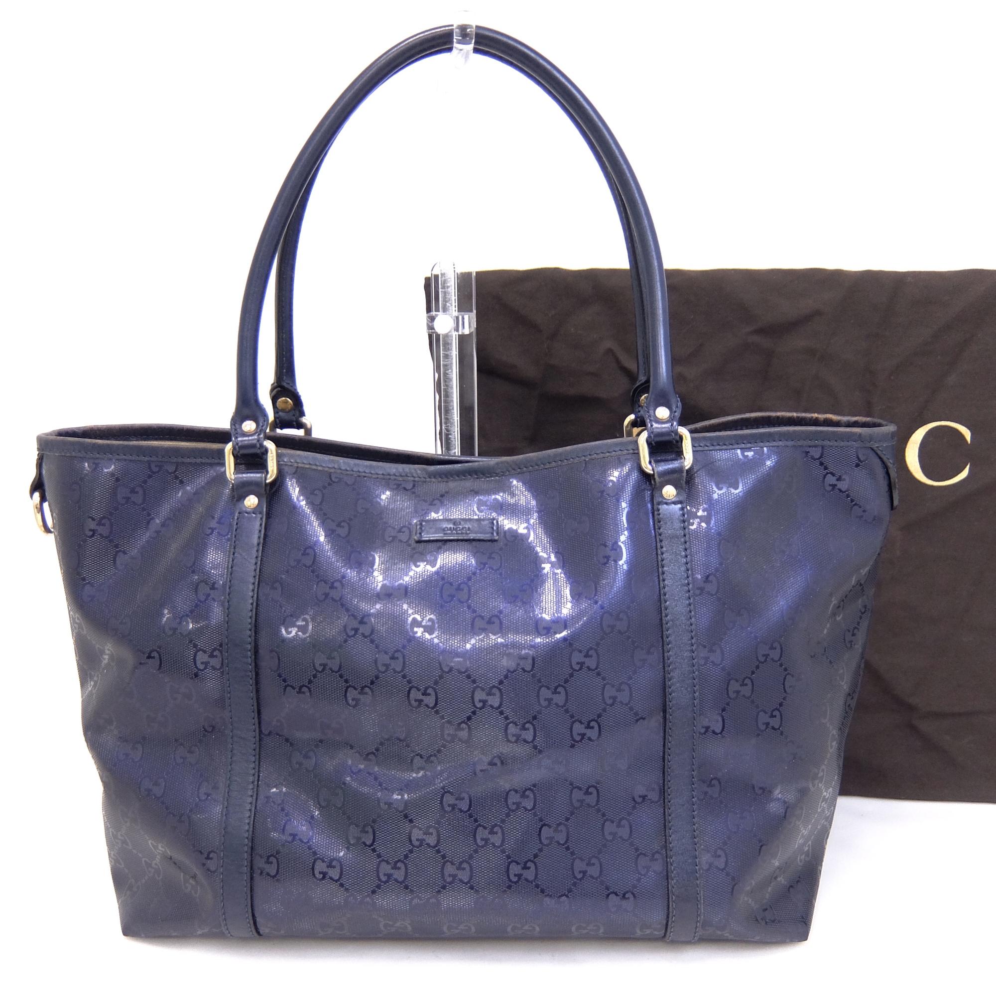 79d25d53 Details about Auth Gucci GG Imprimé Women's GG Imprimé,PVC Tote Bag Navy