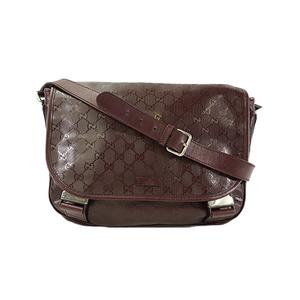 be5bc932e Auth Gucci Shoulder Bag GG Imprimé Win Red Silver Hardware