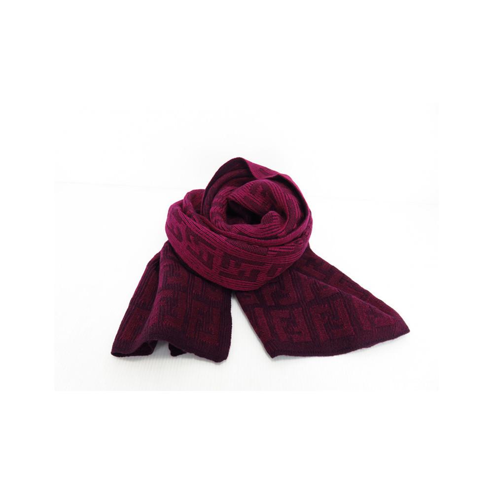 Fendi Wrappy FXT011 Women's Wool Scarf Purple