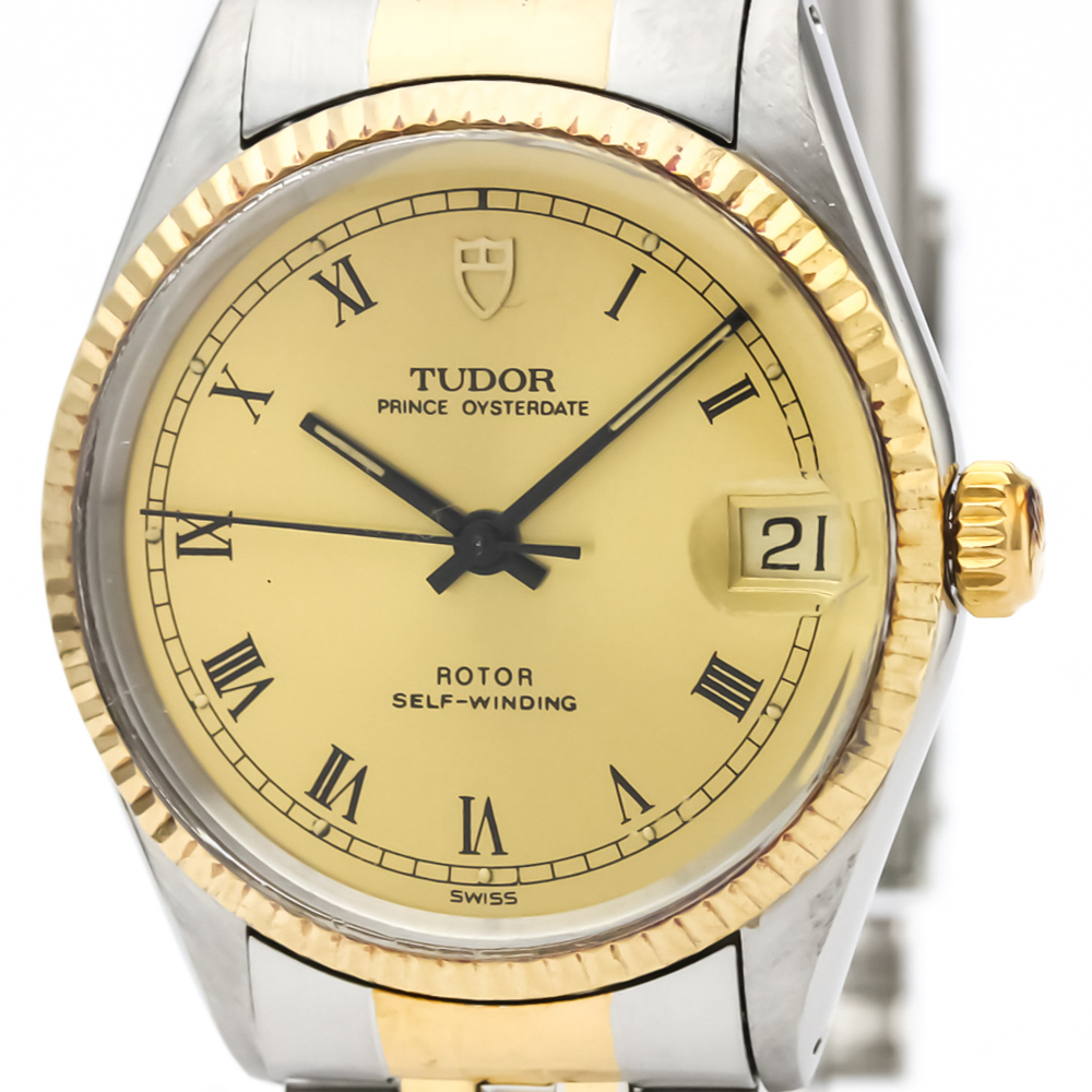 Tudor Prince Oyster Date Automatic Stainless Steel,Yellow Gold (18K) Men's Dress Watch 75403