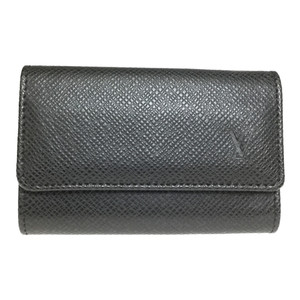 Louis Vuitton Taiga M30532 Multicle 6 Men's Taiga Leather Key Case Ardoise