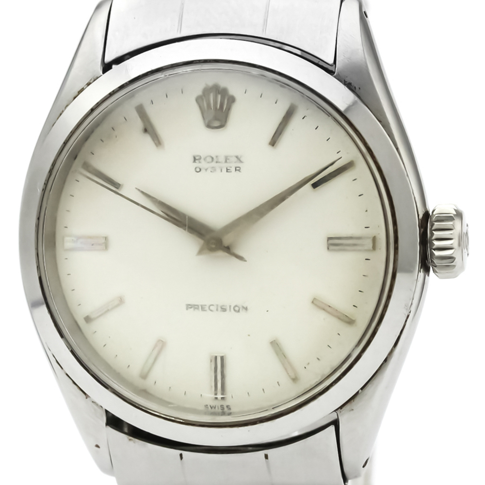 Rolex Precision Mechanical Stainless Steel Men's Dress Watch 6480