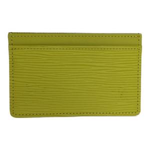 Louis Vuitton M60518 Epi Porto cult Sampur Card Case Pistache yellow