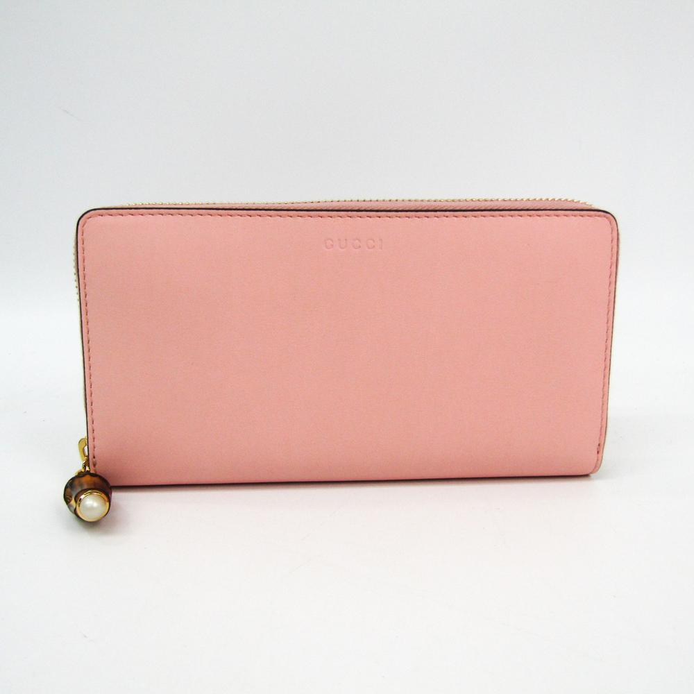 free shipping 50dd1 2fa4d グッチ(Gucci) バンブー 453158 レディース レザー 長財布(二つ折り) ピンク | elady.com