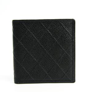 シャネル(Chanel) ビコローレ レディース キャビアスキン 財布(二つ折り) ブラック