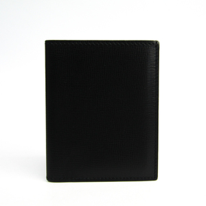 Valextra Leather Business Card Case Black
