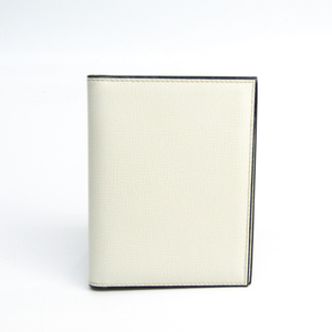 Valextra Leather Card Case Ivory
