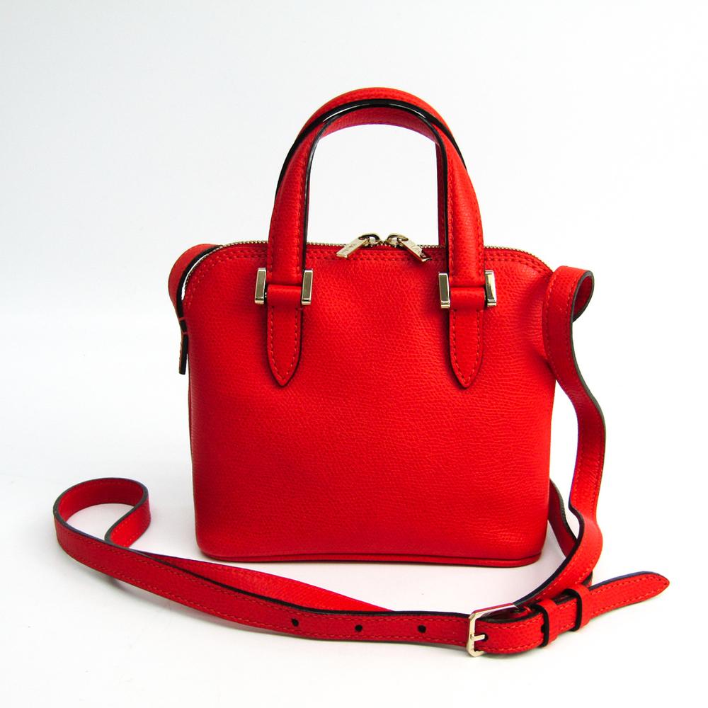Valextra Women's Leather Shoulder Bag Red