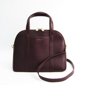 Furla Women's Leather Handbag Bordeaux