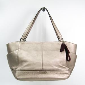 Coach F23284 Women's Leather Tote Bag Bordeaux,Silver