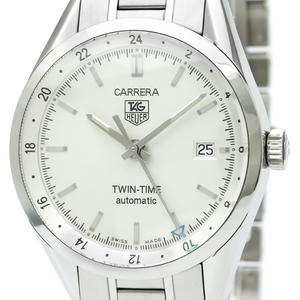 【TAG HEUER】タグホイヤー カレラ ツインタイム ステンレススチール 自動巻き メンズ 時計 WV2116