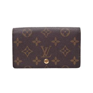 Louis Vuitton Monogram Porto Foyu Tresor M61736 Brown Men's Women's Genuine Leather Compact Zip Wallet AB Rank LOUIS VUITTON Used Ginza
