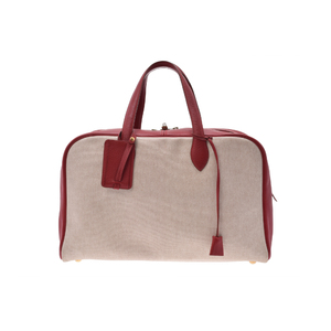 Hermes Victoria 43 Canvas/Leather Bag