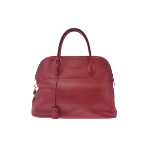 Hermes Bolide 37 Courchevel Leather Bag Rouge Vif