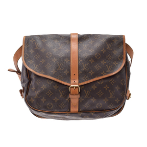 Louis Vuitton Monogram Saumur M42254 Shoulder Bag Monogram