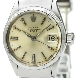 ROLEX Oyster Perpetual Date 6519 Steel Automatic Ladies Watch