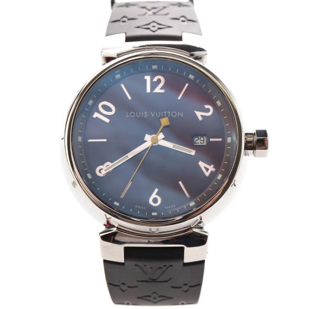 Louis Vuitton Tambour Quartz Stainless Steel Men's Sports Watch Q1111
