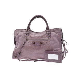 Balenciaga City Leather Bag Purple