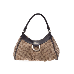 Gucci Semi Shoulder Bag GG Canvas Bag Brown