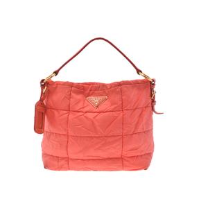 プラダ(Prada) Semi shoulder bag ナイロン ショルダーバッグ オレンジ