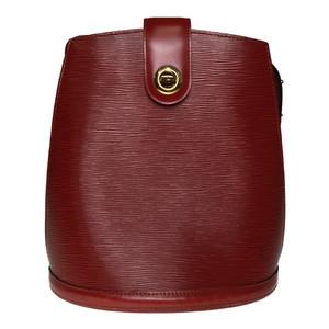 Auth Louis Vuitton Epi M52257 Cluny Shoulder Bag Castilian Red