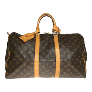 Auth Louis Vuitton Monogram M41428 Keepall 45 Unisex Boston Bag Brown