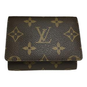 Auth Louis Vuitton Damier N62920 Business Card Case Envelope Carte de Visitt