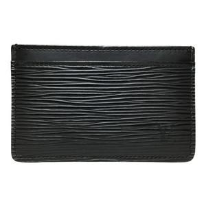 Auth Louis Vuitton Epi M63512 Porto Carte Simple Noir Simple Card Case