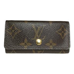 Auth Louis Vuitton Monogram M62631 Multicles 4 Key Holder Case