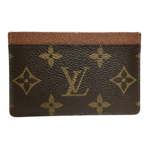 Auth Louis Vuitton Monogram M61733 Porto Carte Simple Card Case