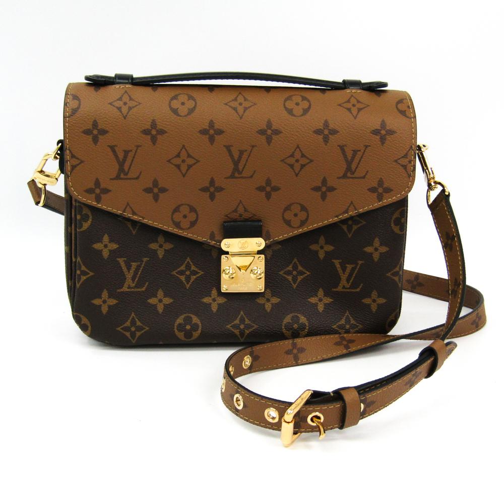 Louis Vuitton Monogram Reverse Pochette Metis M41465 Women's Shoulder Bag Monogram