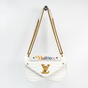 Louis Vuitton New Wave Chain Bag MM M51945 Women's Shoulder Bag White
