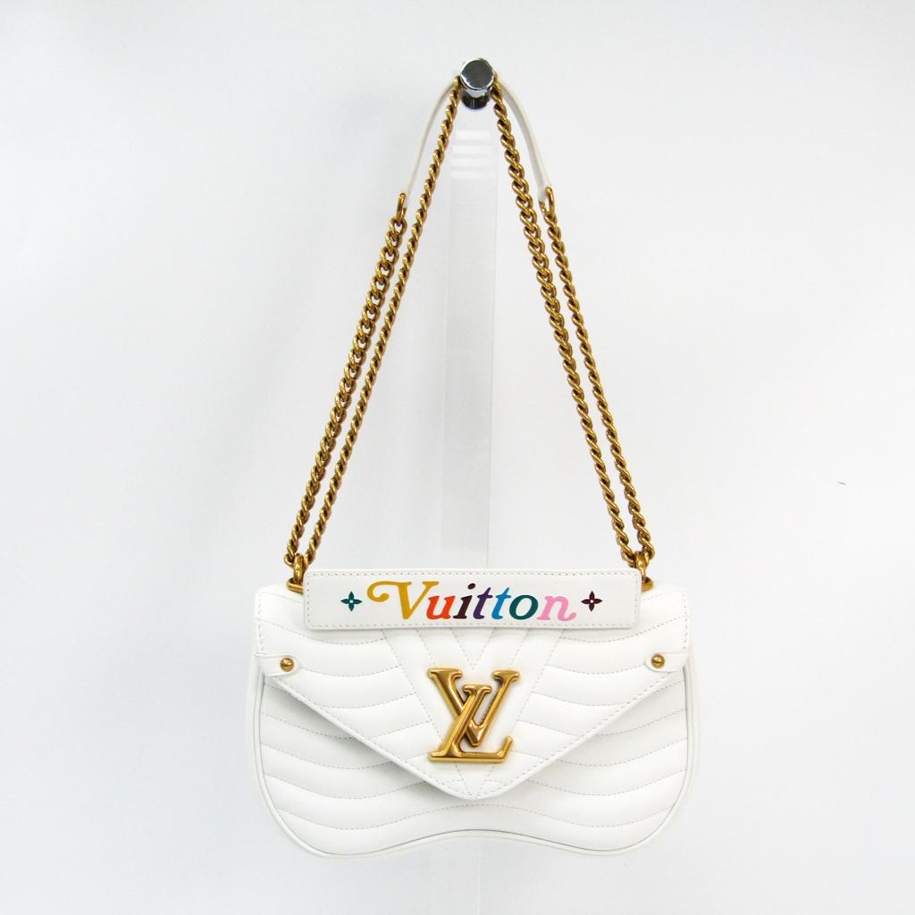 965326282 Louis Vuitton New Wave Chain Bag MM M51945 Women's Shoulder Bag White  BF333916