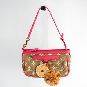Louis Vuitton Monogram Sabbia Pochette Accessories M93069 Women's Handbag Rose