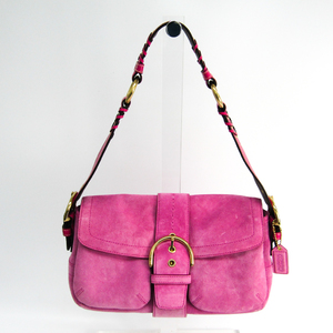 Coach Soho 3659 Women's Suede,Leather Shoulder Bag Pink