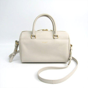 Saint Laurent Baby Duffle 330958 Women's Leather Handbag Ivory