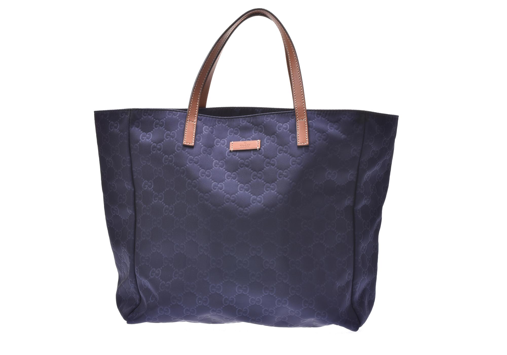 e80e27b75e66f9 Authentic Gucci Nylon Tote Bag Blue 805000920500000 | eBay