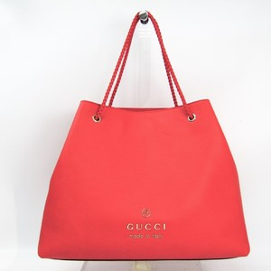 Gucci 380118 Women's Leather Tote Bag Red