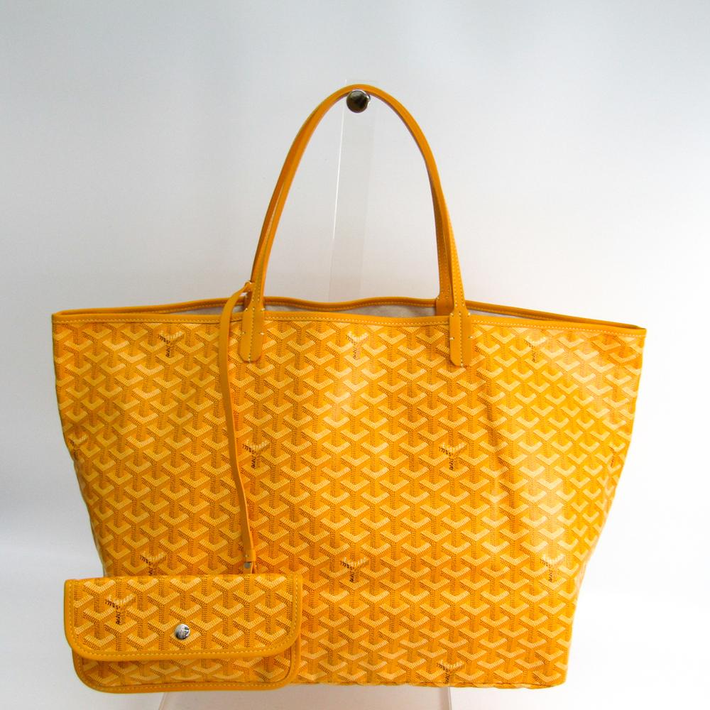 Goyard Saint Louis GM AMALOUISGM08 Women's Leather,Canvas Tote Bag Yellow