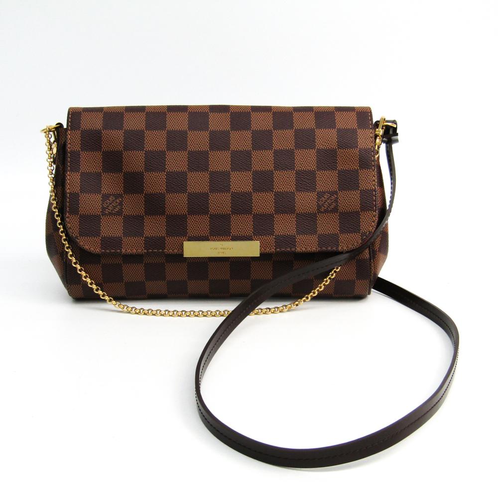 Louis Vuitton Damier Favorite MM N41129 Women s Shoulder Bag Ebene 609d0b073
